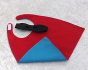Superhero Cape & Mask Teddy Bear Red/Turquoise