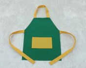 Apron Younger Childs – Green/Yellow Polycotton Drill