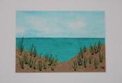 Signed Mounted original Textile Artwork – Sand Dunes Sold by Artist