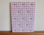 Memo Board, Laura Ashley Pink Woven Gingham