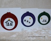 Christmas cards Notelets 6 Printed from an original watercolour BAUBLES