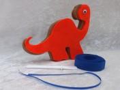 Easy, Fun, Unique standing Dinosaur Craft Kit Orange Dinosaur Craft Kit