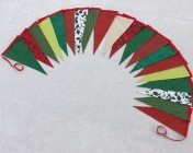 5m 20 Large flag Red, Green, Lime Green, White, Gold Christmas BUNTING