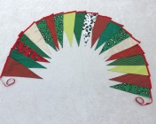 5m 20 Large flag Red, Lime Green, Green, White, Gold Christmas BUNTING