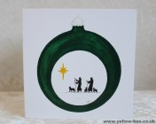 Christmas cards Notelets 5 Printed from an original watercolour SHEPHERDS BAUBLE