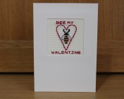 Greetings Card – Bee My Valentine Embroidered Card