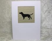 Greetings Card – Sophie Allport Black Labrador Fabric