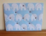 Memo Board, Blue Elephant (Landscape)