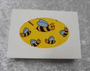 Greetings Card – Bright Yellow Bee Fabric Card