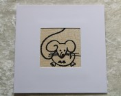 Greetings Card –  Cartoon Mouse Fabric