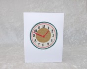 Greetings Card – Cath Kidston Clocks Fabric