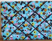 Memo Board, Blue Liquorice Allsort (Landscape)