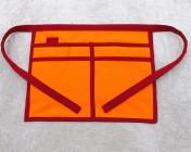 Gardeners Apron – Orange & Red Polycotton Drill