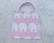 Tote Bag – Pink Elephant Fabric