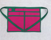 Gardeners Apron – Cerise & Green Polycotton Drill