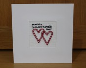 Greetings Card – Happy Valentine's Day Embroidered Card