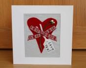 Greetings Card – Heart Anniversary Card Love You!