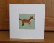 Greetings Card – Mint Fox Fabric