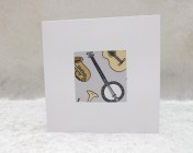Greetings Card – Musical Instrument Fabric Card
