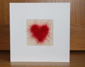 Greetings Card – Needle Felted Heart Anniversary Card