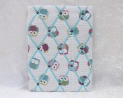 Memo Board, Owls Turquoise Straps