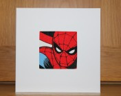 Greetings Card – Spiderman Fabric