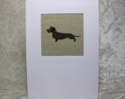 Greetings Card – Sophie Allport Wirehaired Dachshund