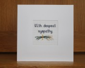 Greetings Card – Handcrafted embroidered Sympathy Card
