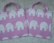2 Tote Bags – Pink Elephant Fabric