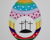 Unmounted A4 original watercolour painting of Easter Egg sold by Artist