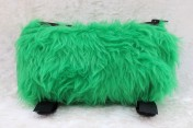 Zipped Bag – Medical Bag Inhaler Bag Green Faux Fur