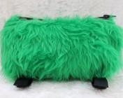 Zipped Bag – Medical Bag Inhaler Bag Green Faux Fur