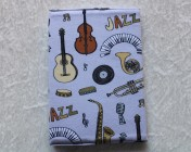 Covered Notebook – A6 Music Fabric Keyboard Guitar Sax Banjo Bass