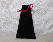 Felt Jewellery gift bag – BLACK, Pink Ribbon Large