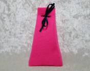 Felt Jewellery gift bag – PINK, Blue Ribbon Large