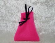 Felt Jewellery gift bag – PINK, Blue Ribbon