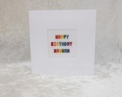Greetings Card – Personalised Hand Embroidered Cards