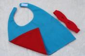Superhero Cape & Mask Teddy Bear Turquoise/Red