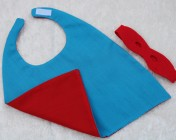 Superhero Cape & Mask Teddy Bear Turquoise/Red