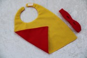Superhero Cape & Mask Teddy Bear Yellow/Red