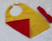 Superhero Cape & Mask Teddy Bear Yellow/Red