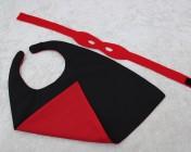 Superhero Cape & Mask Teddy Bear Red/Black