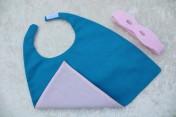 Superhero Cape & Mask Teddy Bear Pink/Turquoise