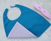 Superhero Cape & Mask Teddy Bear Pink/Turquoise