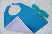 Superhero Cape & Mask Teddy Bear Turquoise/Pink