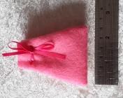 Felt Jewellery gift bag – PINK, Pink Ribbon