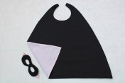 Superhero Cape & Mask Younger Childs Black/Pink