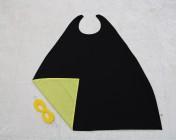 Superhero Cape & Mask Older Childs Yellow/Black