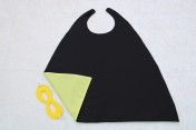 Superhero Cape & Mask Younger Childs Black/Yellow