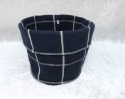 Fabric Basket – Blue Check Fabric